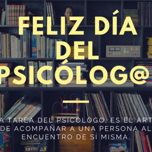 Feliz día del profesional en psicología